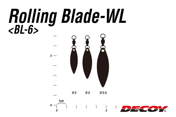 Details about  /Decoy BL-6G Rolling Blade Willow Leaf Gold Size 3 2696