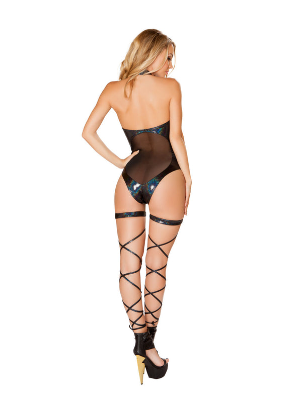 Midnight Mistress Paneled Mesh Bodysuit
