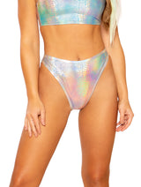 J. Valentine Holo Groove Bottoms - Silver