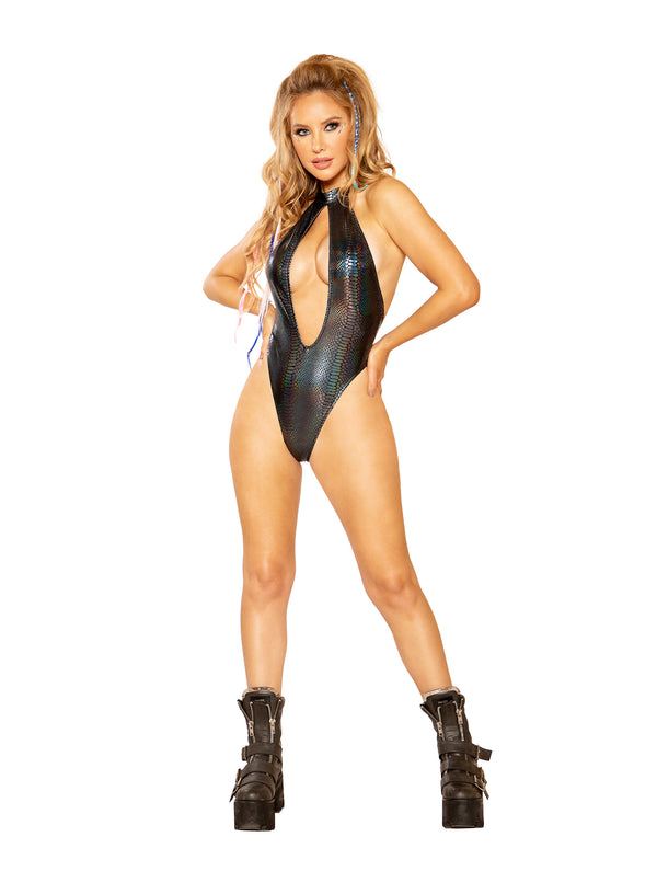 J. Valentine Cyber Slither Bodysuit - Black Cobra