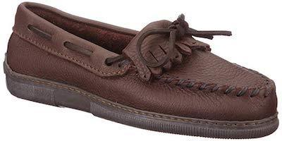 Minnetonka Moccasin Moosehide Kilty Brown 392