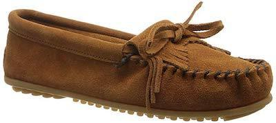 minnetonka Moccasin Kilty Hardsole Brown 402