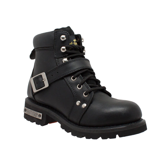 RIDETECS BLACK BIKER BOOT WOMENS 8143