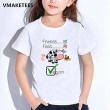 Load image into Gallery viewer, Kids Girls&Boys T-shirts - StrongVegans