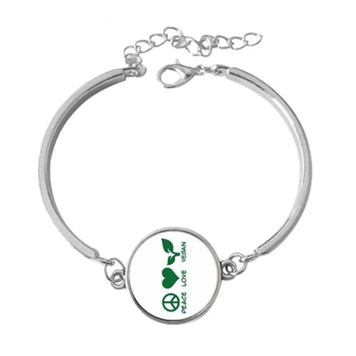 Love Vegan Peace Bracelet - StrongVegans