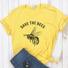 Load image into Gallery viewer, Save The Bees Shirt Crew Neck T Shirt