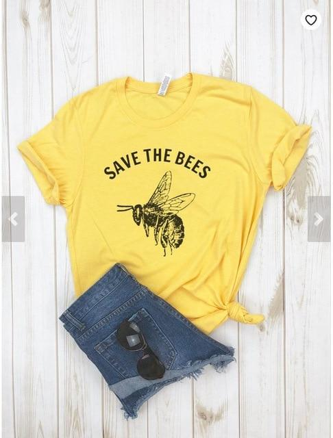 Save The Bees Shirt Crew Neck T Shirt