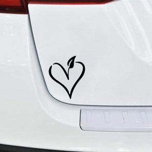 Vegan Heart Sticker - StrongVegans