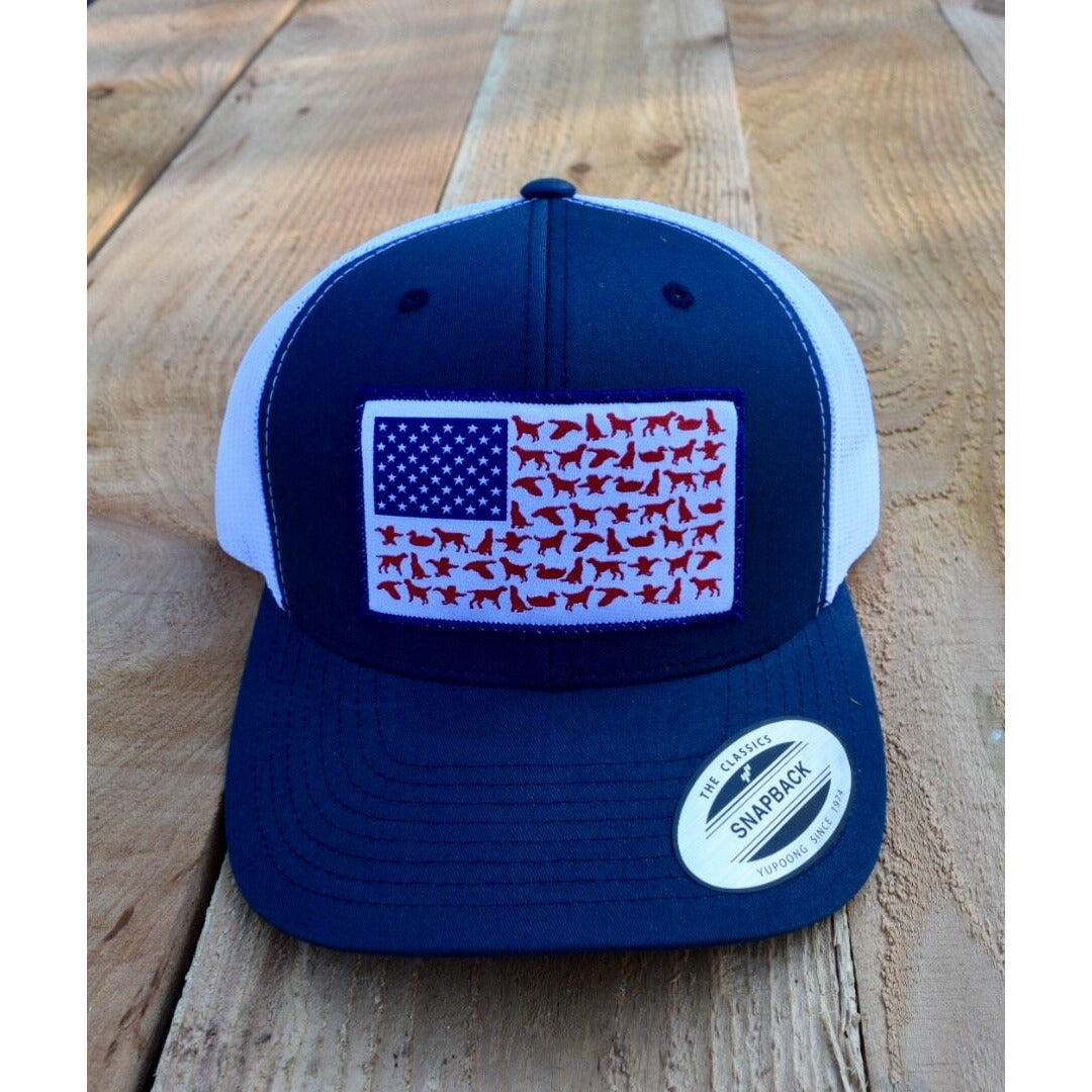 American Flag Patch hat