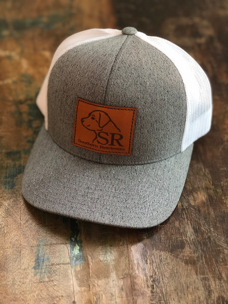Heather Logo Leather Patch Hat