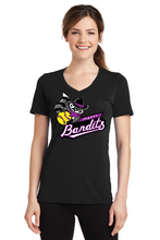 Load image into Gallery viewer, LPC381V Port & Company® Ladies Performance Blend V-Neck Tee