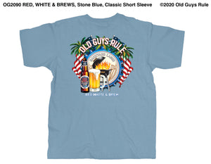 Red, White & Brews, Stone Blue, Classic Short Sleeve