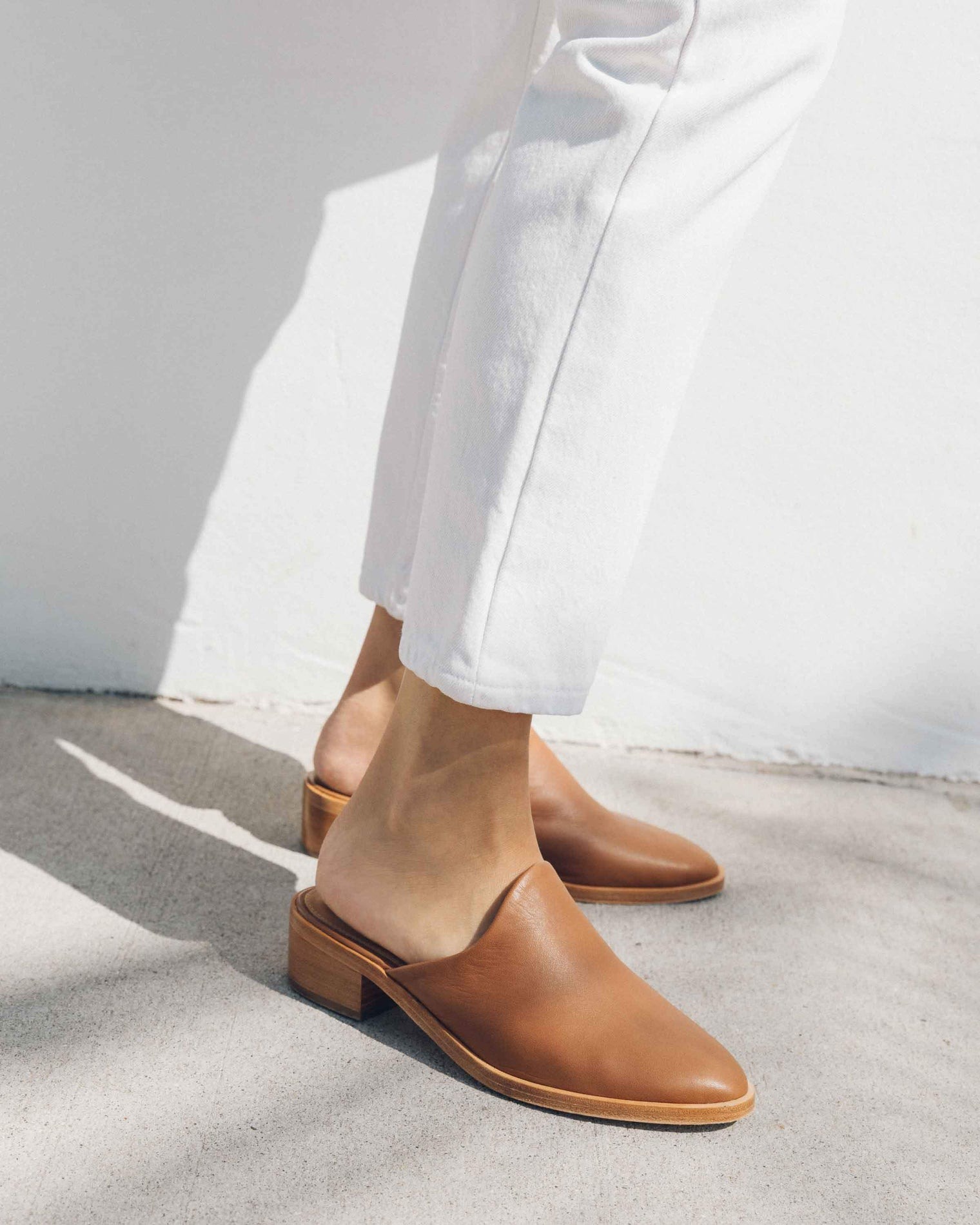 Venetian Mule tan-leather