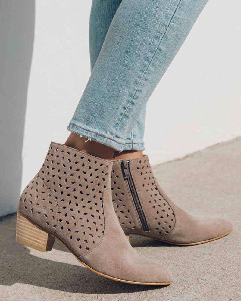Lola Perforated Bootie