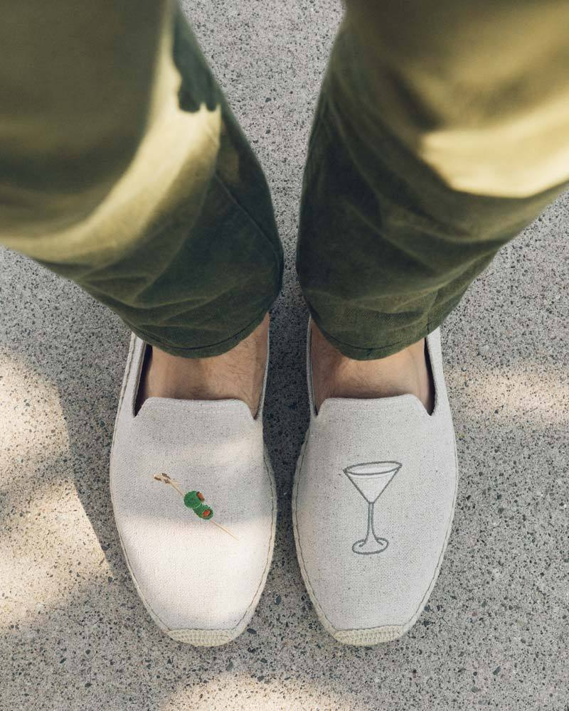 Men's Dry Martini Smoking Slipper sand