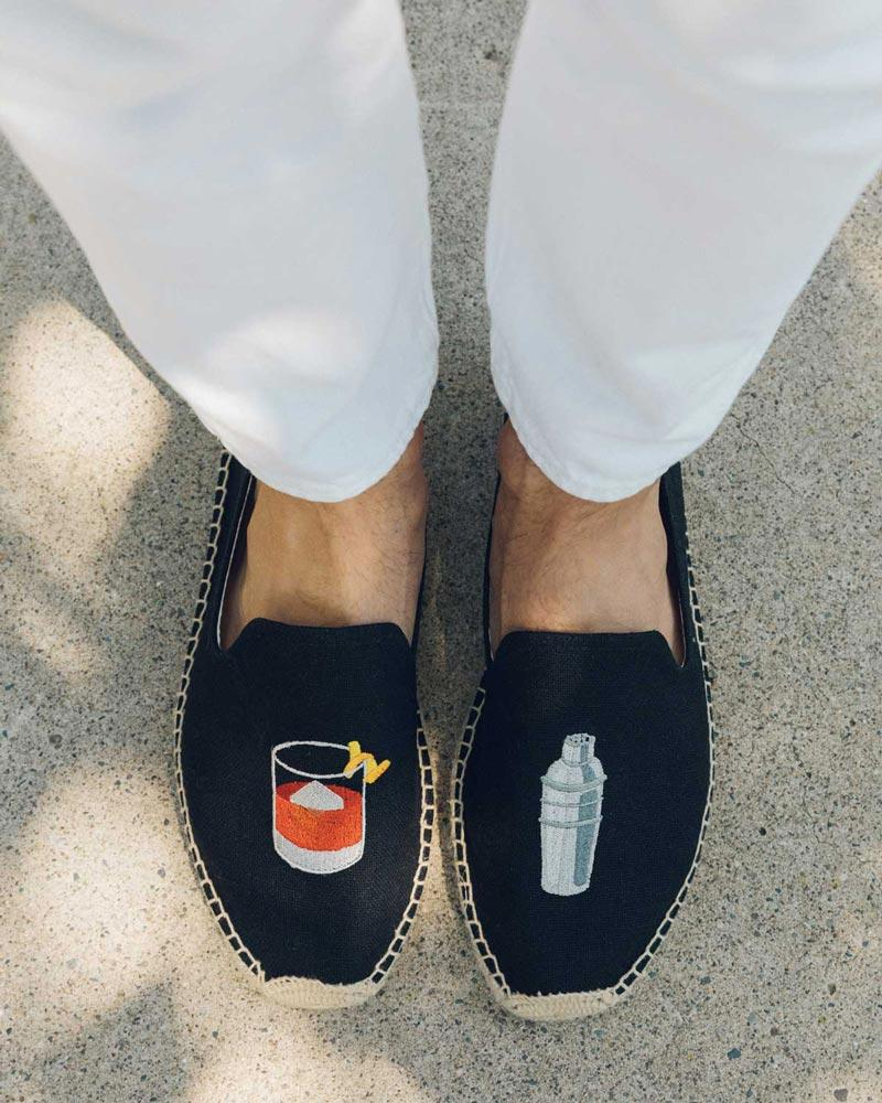 Mens Negroni Smoking Slipper black