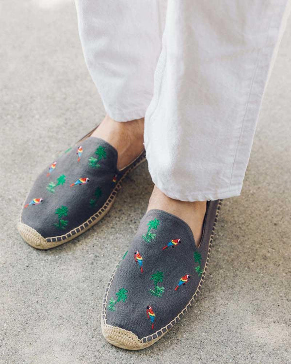 Men's Palms and Parrots Smoking Slipper image
