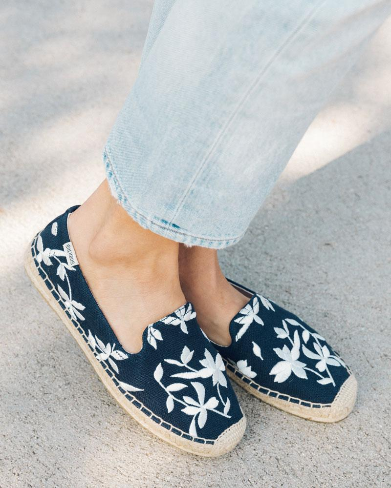 shiloh embroidered espadrille midnight