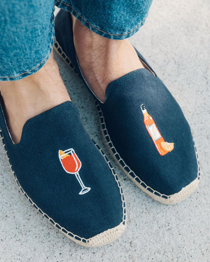 men's aperitif smoking slipper midnight