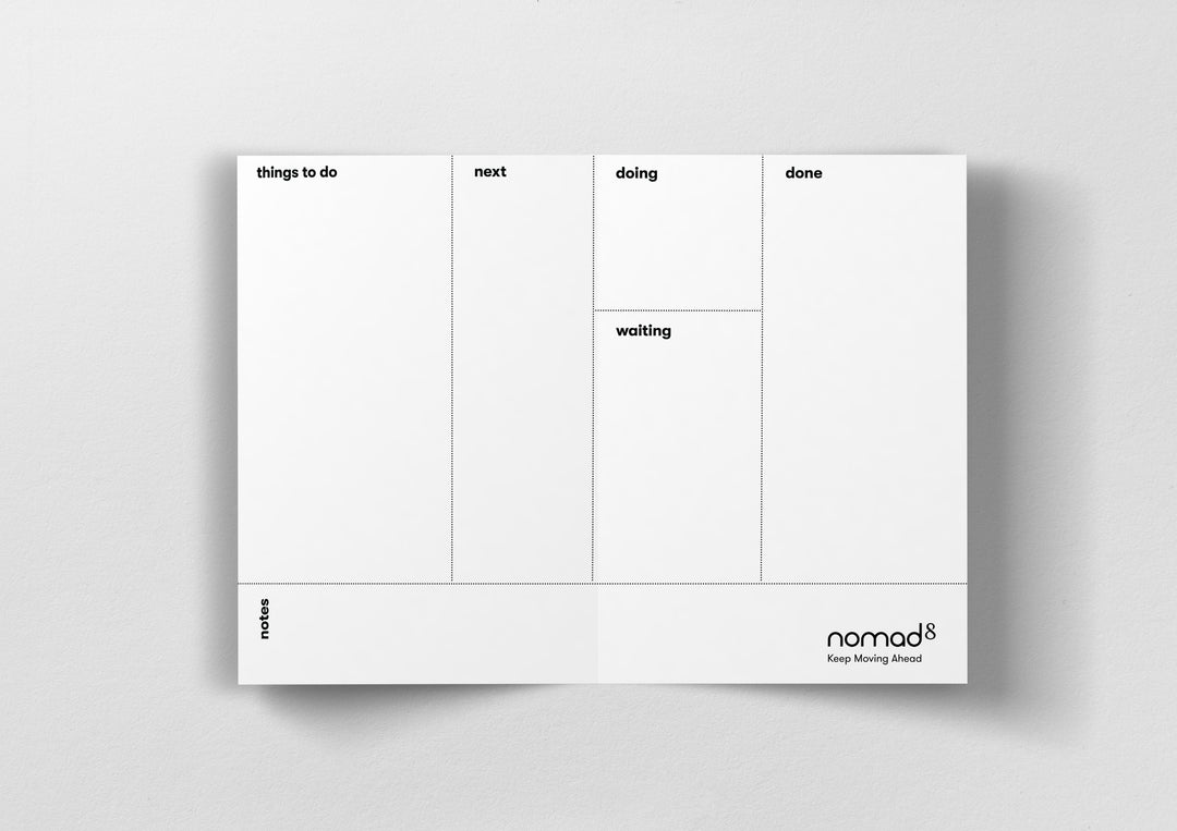 Black & White Kanban Boards - Folding