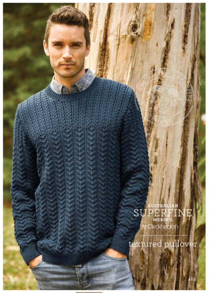 Mens Textured Pullover