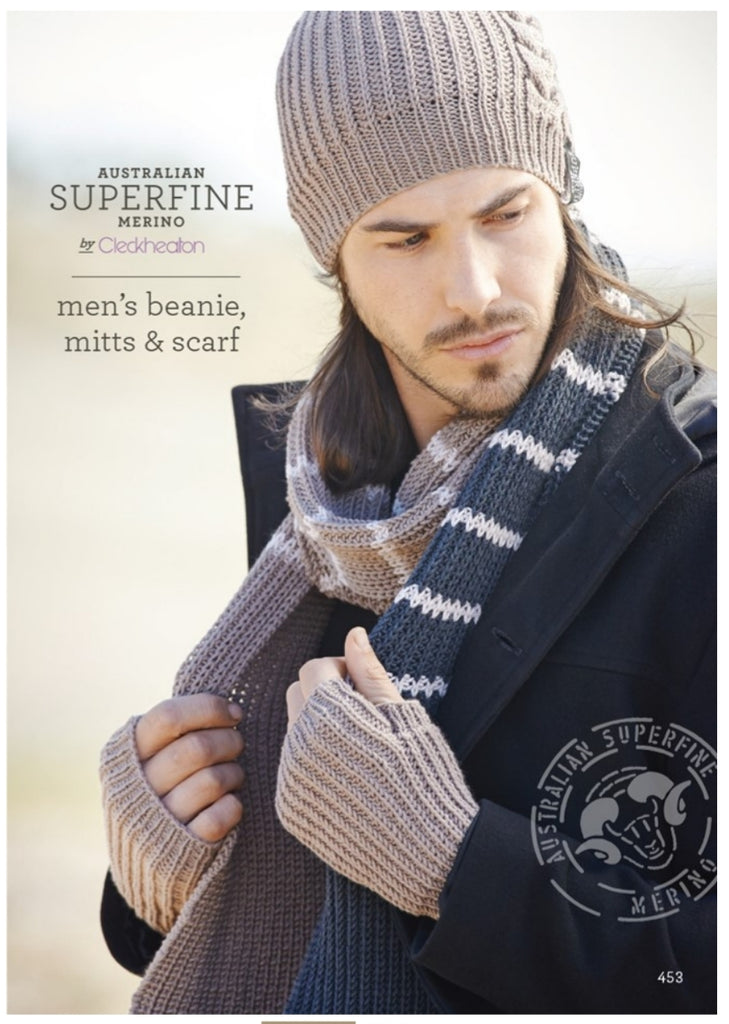Mens Beanie, Mitts and Scarf