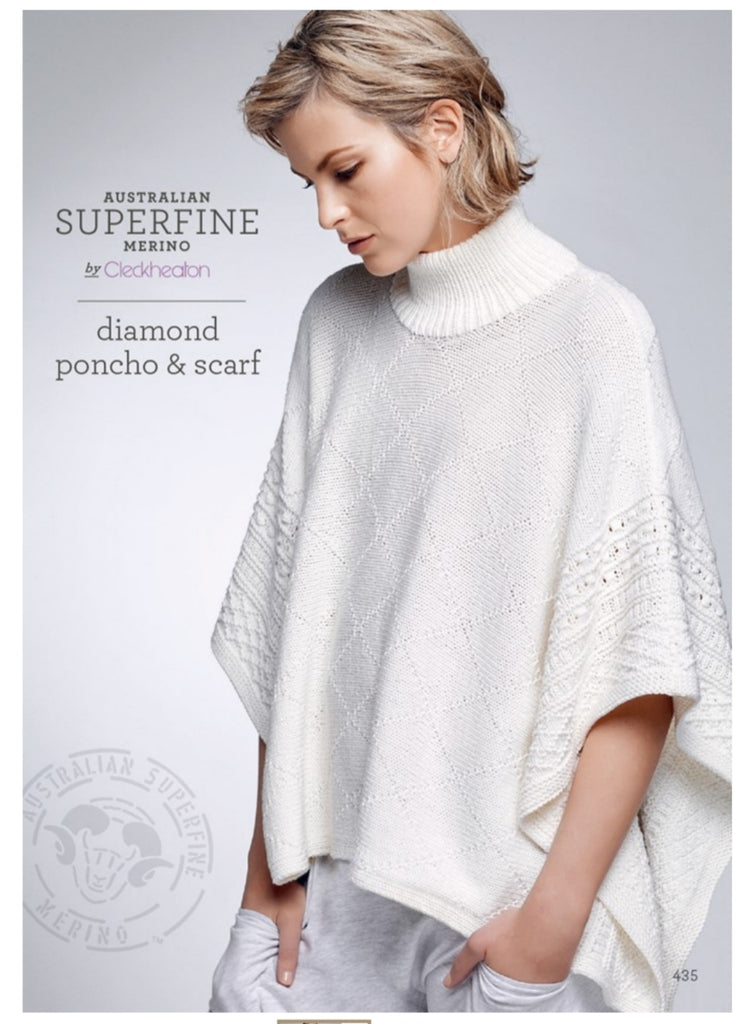 Diamond Poncho and Scarf