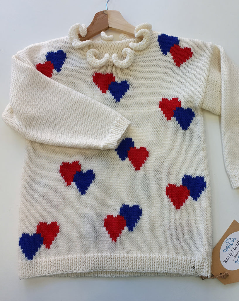 Hearts jumper - 6-8 years
