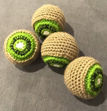 Kiwi Fruit Halves Pattern