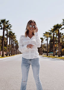 Jasmine Ruffle Button Down