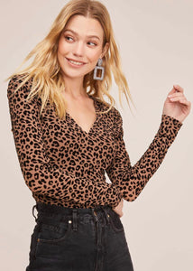 Leopard Burnout Bodysuit