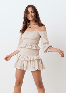 Lola Ruched Mini Skirt
