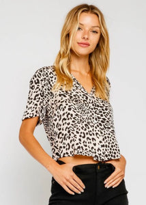 Blanca Leopard Buttondown