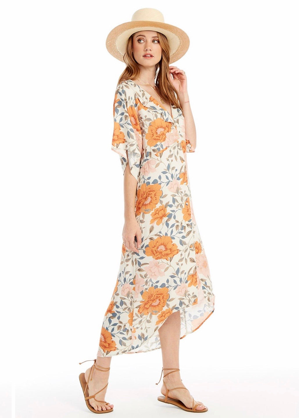 Romance Blossom Midi Dress