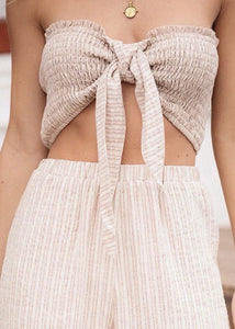 Sandy Stripes Crop