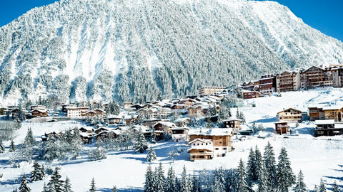 ski resort at Courchevel in the French Alps