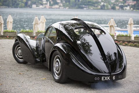 Black  Bugatti Type 57CS Atlantic from the rear