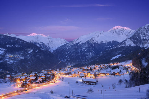Courchevel is famous for posh atmosphere and upscale lodges, five-star and luxury boutique hotels, and Michelin-starred dining