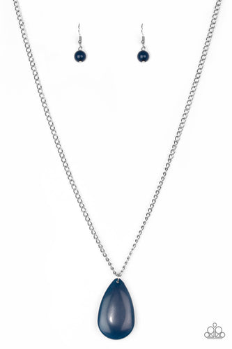 Paparazzi  Navy Blue Pendant So Pop-YOU-lar - Long