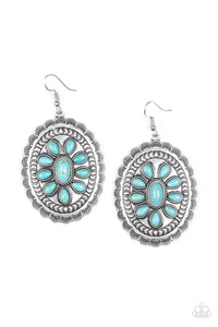 Paparazzi Earring Absolutely Apothecary  Southwest Silver and Turquoise Stones