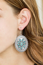 Load image into Gallery viewer, Paparazzi Earring Absolutely Apothecary  Southwest Silver and Turquoise Stones