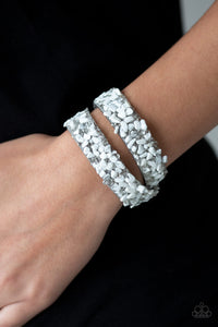 Paparazzi CRUSH To Conclusions - Crushed Rock Leather Wrap Bracelets