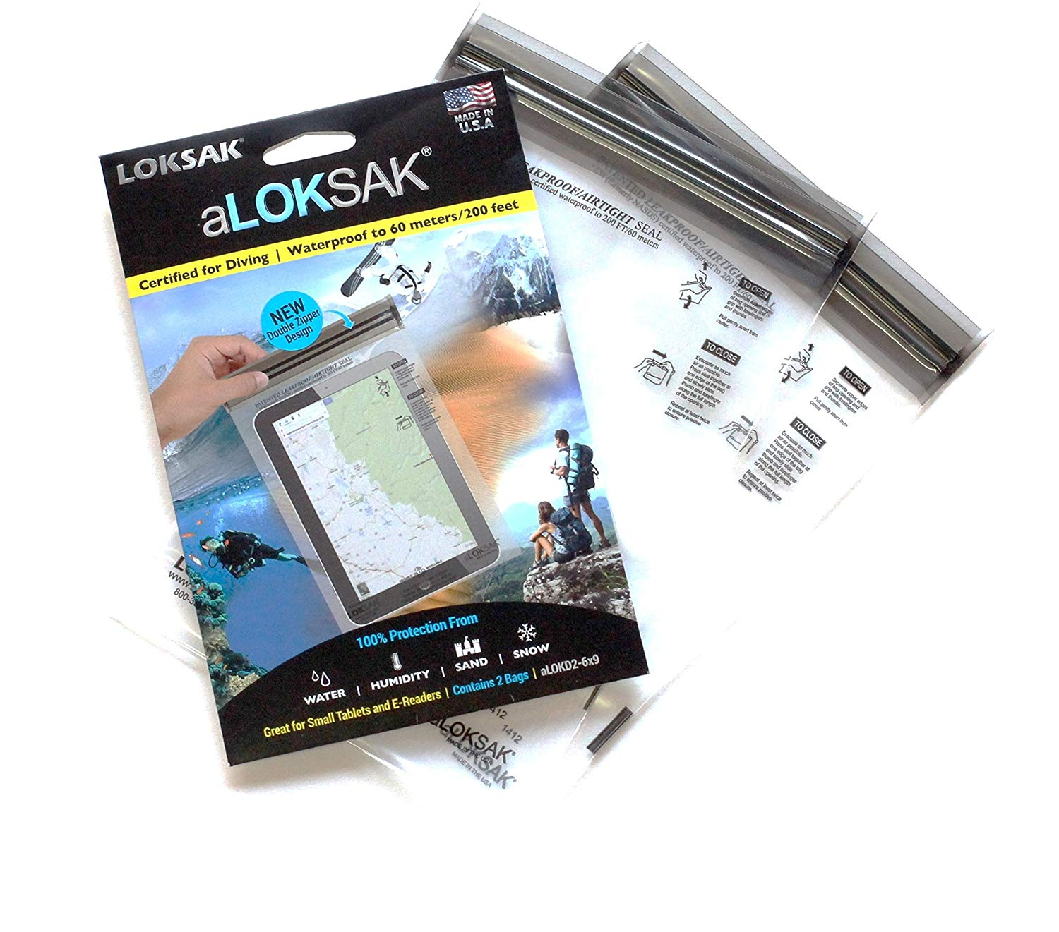 aLOKSAK Element Proof Bags - 2 Packs of Various Sizes