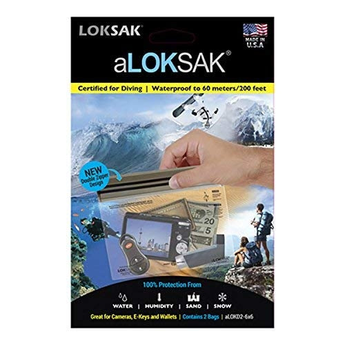 "aLOKSAK 6"" x 6"" (2 Pack) Element Proof Bags"