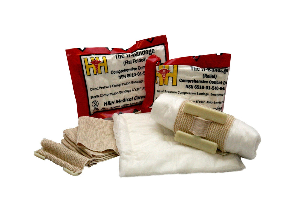 H Bandage Compressed Dressing (Flat Fold) by H & H Medical (NSN:  6510-01-598-8418)