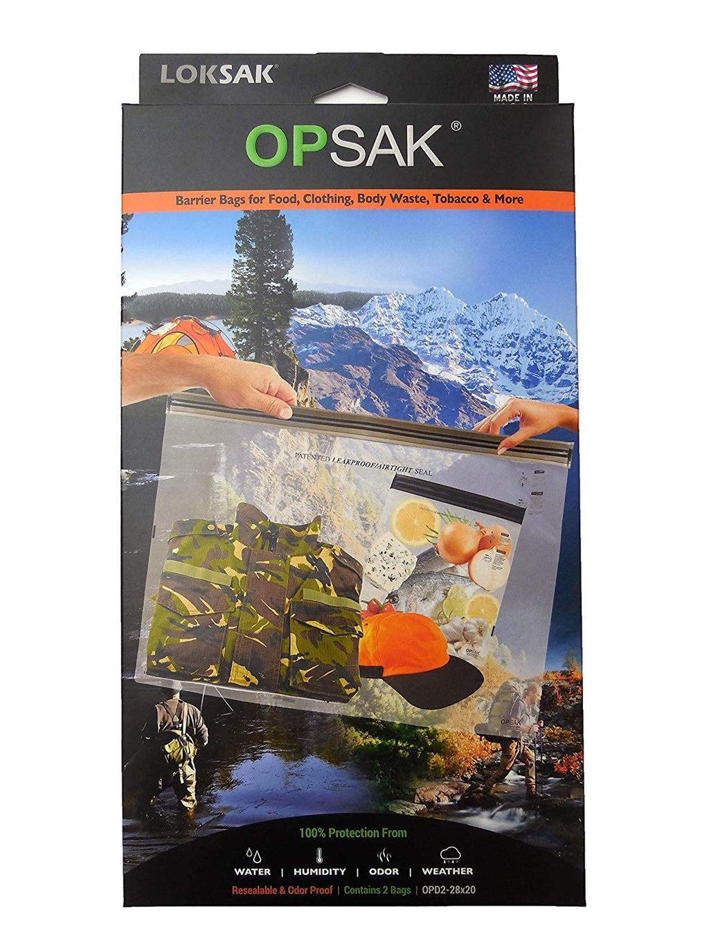 "OPSAK 12"" x 20"" (2 Pack) Odor Proof Barrier Bags"