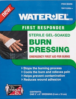 "Water Jel First Responder Burn Dressing 2"" x 6"""
