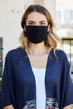 Adult Reusable Cotton Mask Black
