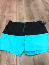 George's Men's Swim Trunks - Black/Turquoise 3X