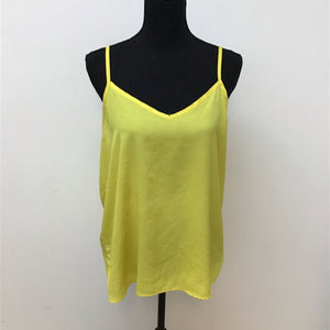 Body Central yellow spaghetti strap top size XL